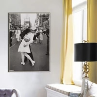 black and white vintage pictures victory kiss poster prints nordic new york canvas painting wall art living kids room home decor