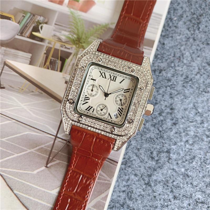 Top Luxury Vintage Oversized Men Quartz Watch Six Needles Full Function Waterproof Business Casual Watches Reloj De Hombre enlarge