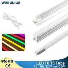 Tube Led T5 T8 6W 10W 20W lampe 30cm 60cm lumière LED 2835 SMD AC110V 220V 300mm 600mm 1FT 2FT LED lampe fluorescente Ampoule