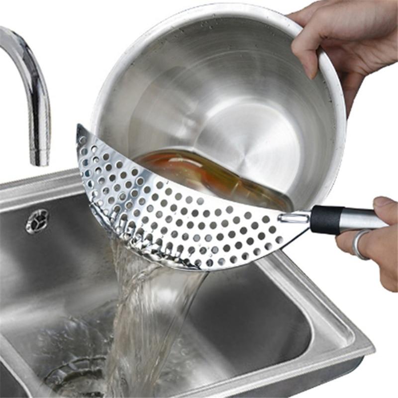Edelstahl Küche Clip Auf Topf Sieb Abtropffläche Für Ablassen Überschüssige Flüssigkeit Universum Ablassen Pasta Gemüse Kochgeschirr