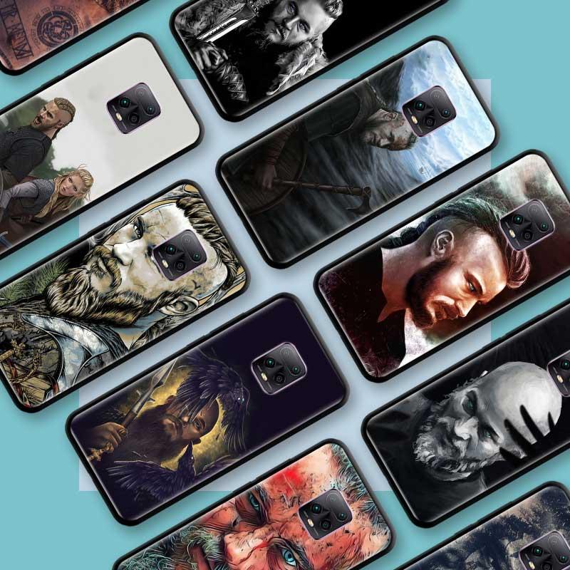 Funda de Tpu negra para Xiaomi Redmi Note 8 9S 8T 9 7 10X 5G K30 Pro Zoom 7A 8A K30i, fundas para teléfono, Ragnar Lothbrok Vikings