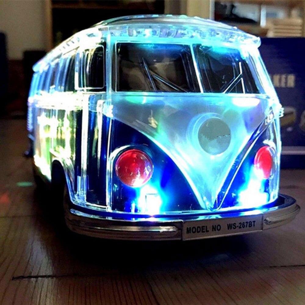 car speaker WS-267BT colorful  bluetooth speaker car shape i bus speaker sound box MP3++U disk+TF+FM+LED 7color function enlarge