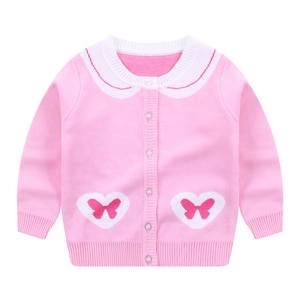 Girls Sweaters Cardigan Shirt Tops Jacket Winter Autumn Long Sleeves Toddler Kids Spring Clothes Children's clothing