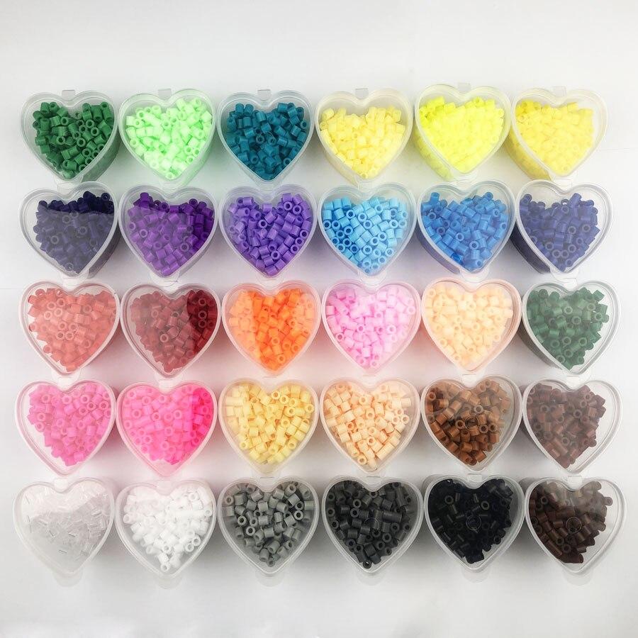 Hama-rompecabezas de combinación de cuentas de colores para niños, juguete educativo, Cuenta...