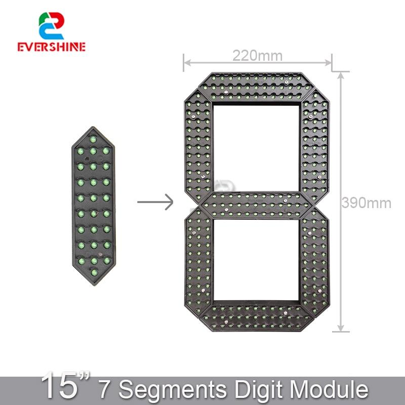 15-дюймовый светодиодный сегментный водонепроницаемый цифровой номер-модуль для наружной АЗС, Ультраяркий большой цифровой дисплей