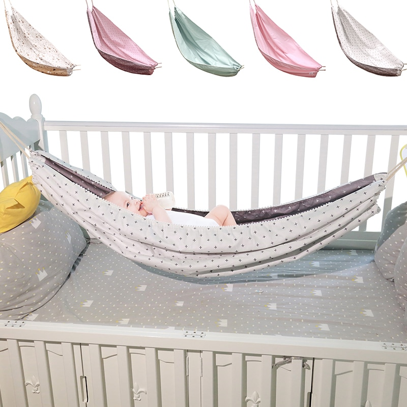 INS Portable Baby Hammock Newborn Kid Sleeping Bed Safe Outdoor Detachable Infant Cot Crib Swing Elastic Hammock Adjustable Net