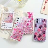 Custodia liquida glitterata per Xiaomi Redmi Note 10 9 8 Pro 9S 10s 8T 9A 9C custodie Poco X3 NFC M3 M2 F2 Mi 10 10T 9T A3 Cover