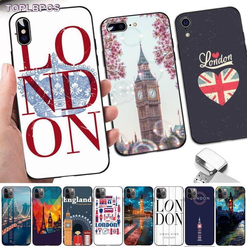 TOPLBPCS Elizabeth Torre Inglaterra me encanta Londres funda de teléfono de lujo para iPhone 8 7 6 6S Plus X 5 5S SE 2020 XR 11 pro XS.