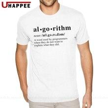 Dictionnaire dalgorithme blanc t-shirts pour hommes XXXL manches courtes coton lourd O cou t-shirts chemise