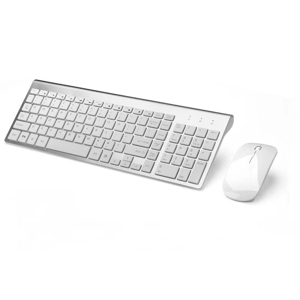 Fitones- لوحة مفاتيح وماوس لاسلكي 2.4 جيجا هرتز ، كمبيوتر محمول ، ماك ، أندرويد ، كمبيوتر لوحي ، مع مفتاح صوت هادئ