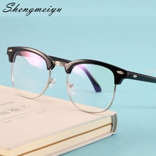 Transparent Computer Glasses Frame Women Men Anti Blue Light Round Eyewear Blocking Glasses Optical