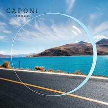 CAPONI Clear Lenses 1.56 1.61 1.67 1.74 Refractive Index Prescription Customized Transparent Lens Myopia Hyperopia 2pcs/1 pair