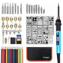 TP-938E Lcd Digitale Display Diy Woodburning Pen Set Pyrography Tool Woodburning Kits
