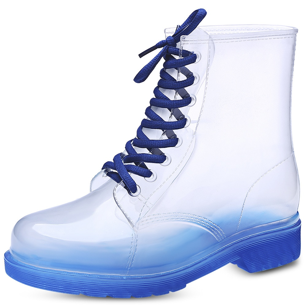 Fashion In The Tube Ladies Martin Rain Boots Kitchen Jelly In The Boots Non-Slip Water Shoes Korean Overshoes Rubber
