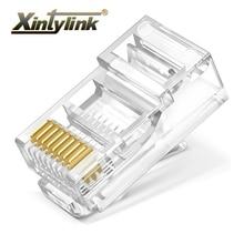 Xintylink rj45 connecteur ethernet câble rg rj 45 prise Cat5 Cat5e jack utp réseau non blindé modulaire conecteur 8p8c 50pcs 100 pièces