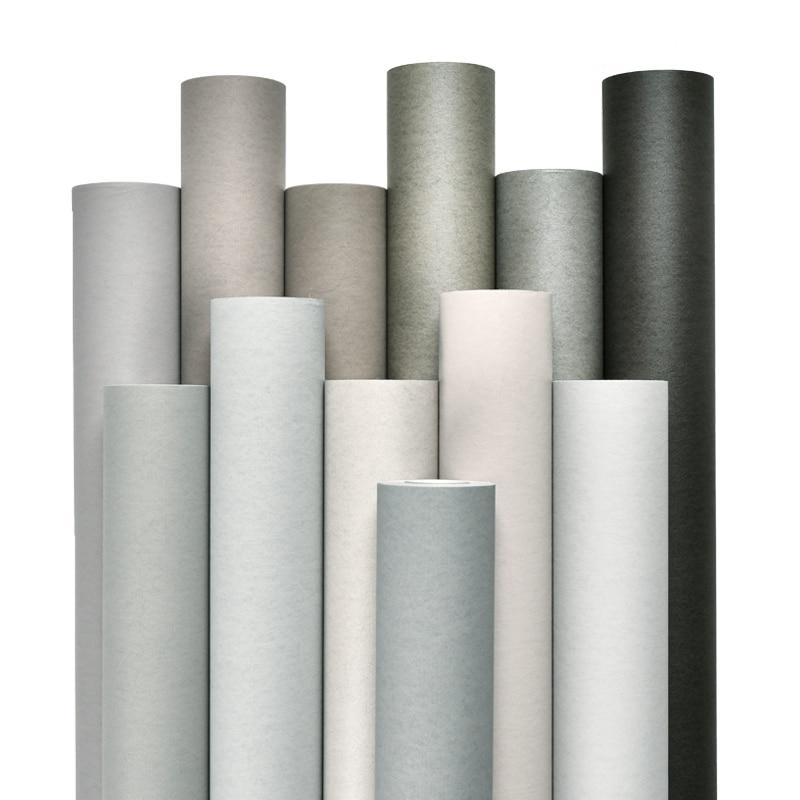 Cement ash light gray series wall paper dark gray modern minimalist Nordic pure pigment color wallpaper living room advanced