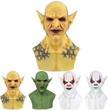 Nieuwe Halloween Devil Clown Vampire Masker Geel Goblins Halloween Party Cosplay Kostuum Props Masker Horror Creepy Masker L0U6