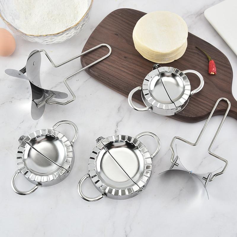 304 Stainless Steel Dumpling Maker Dumpling Pie Ravioli Mould Cooking Pastry Jiaozi Maker Kitchen Tools Baking Accessories