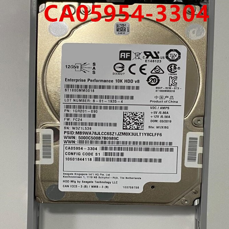 90% جديد HDD ل فوجيتسو DX100 DX200 S3 S4 1.8 تيرا بايت 2.5