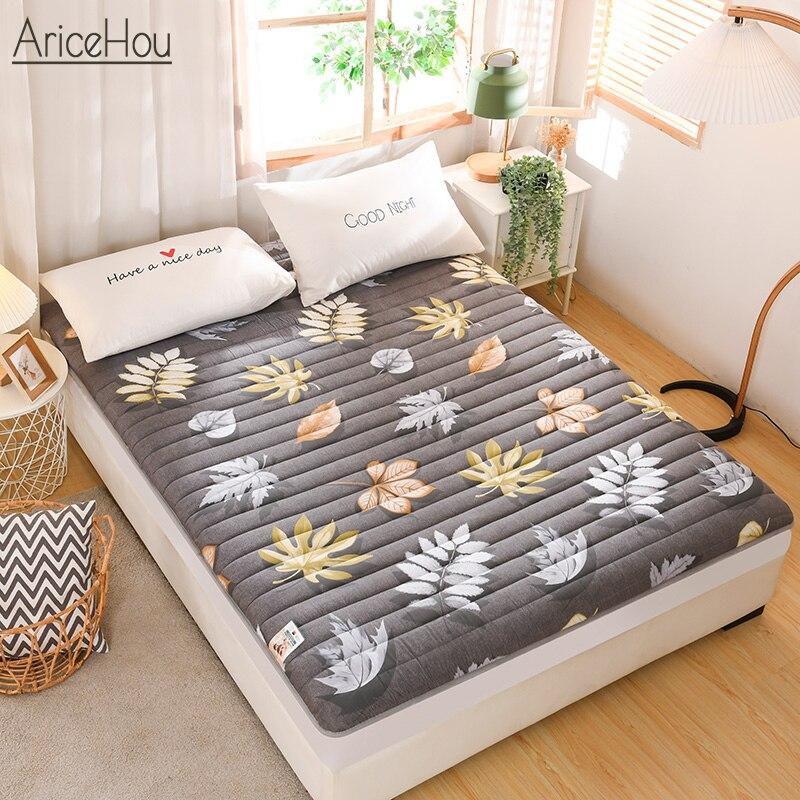 Приятный для кожи хлопковый матрас с татами, нескользящий, утолщенный коврик, складная мягкая подкладка для студентов, для кровати, большог...