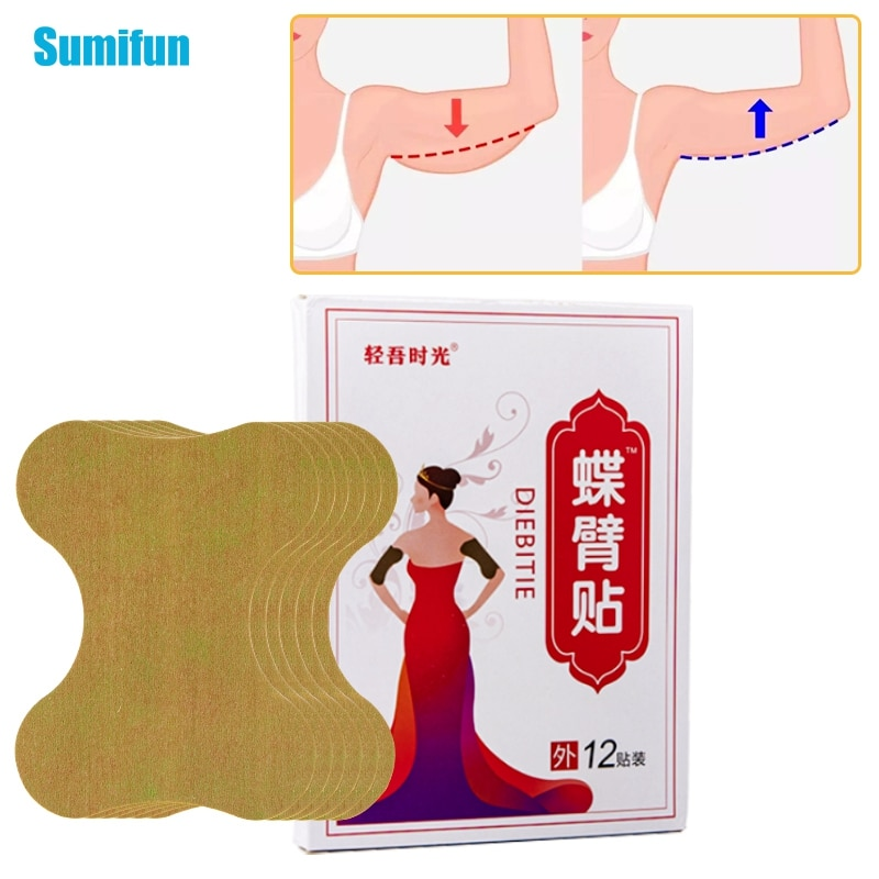 12pcs/Box Thin Arm Leg Patches Body Shaping Stickers Anti Cellulite Massage Weight Loss Beauty Natur