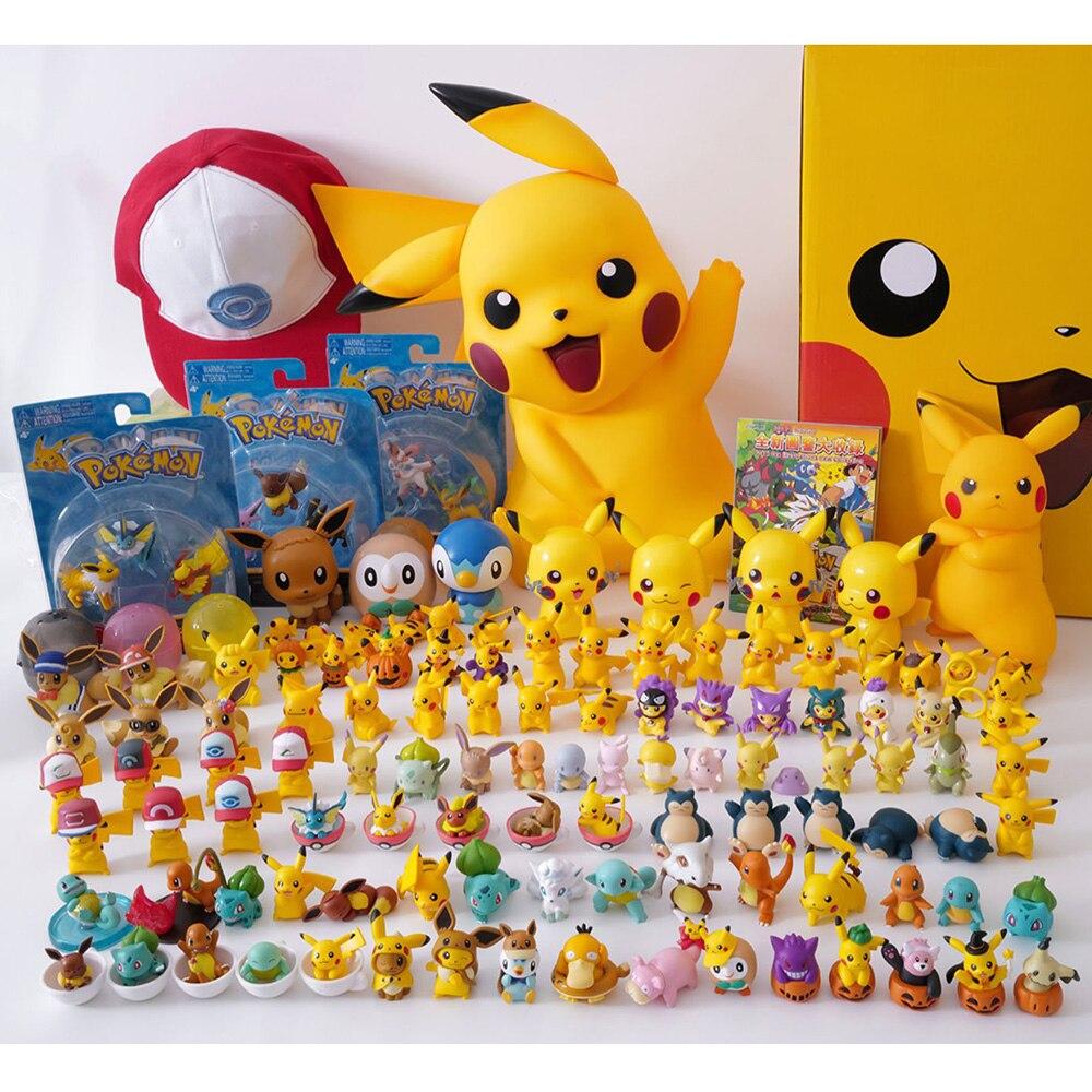 Pokemon Go Pet Pocket Monster Pikachu Model Snorlax Squirtle Charmander  Action Figure Dolls Toys Gift For Kids