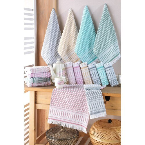 Towel Ephesus 30 X50 cm 12 Li Hand Towel Set Cotton