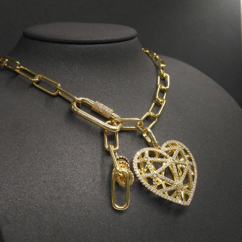 Cheny s925-قلادة من الفضة الإسترليني عيار 925 ، مجوهرات ذهبية صفراء مجوفة ، قلادة حب ، مجوهرات كلاسيكية للنساء