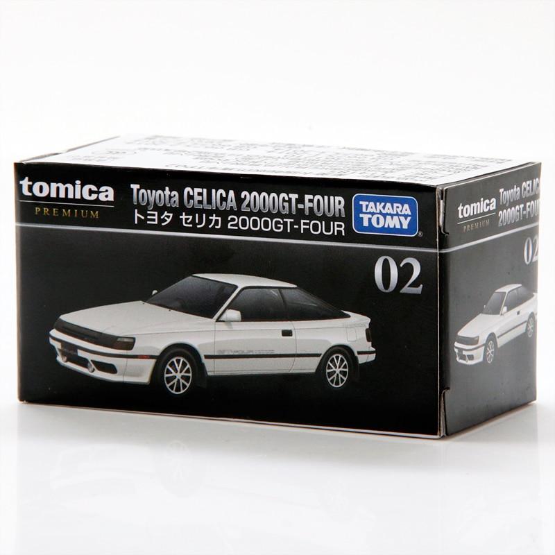 Takara tomy tomica premium 02 toyota celica 2000gt-four metal diecast modelo carro