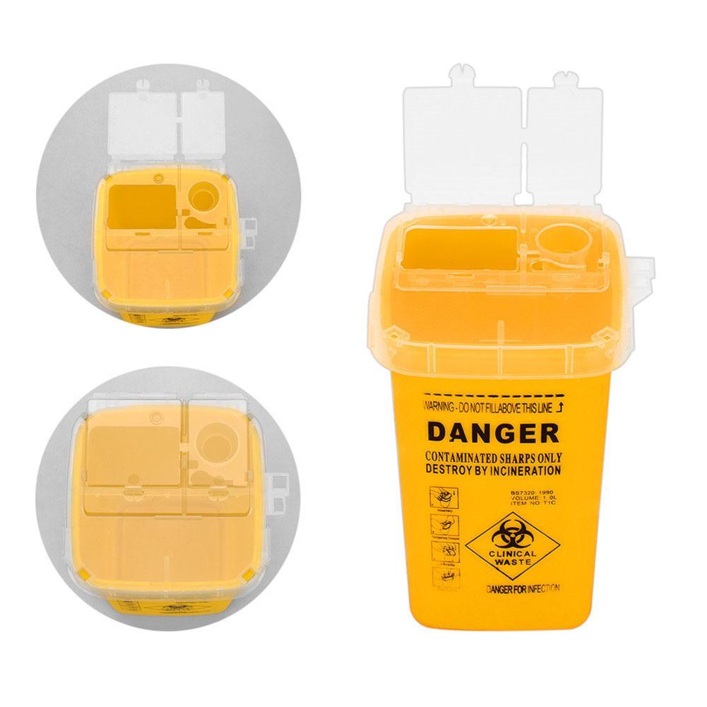 Aguja de tatuaje Sharps Danger Biohazard caja de recolección de objetos afilados cubo de basura caja de residuos