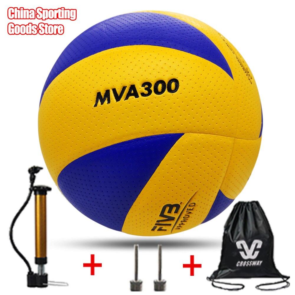 Popular volleyball, mva300, super hard fiber, brand, competition, size 5, free air pump + needle + bag