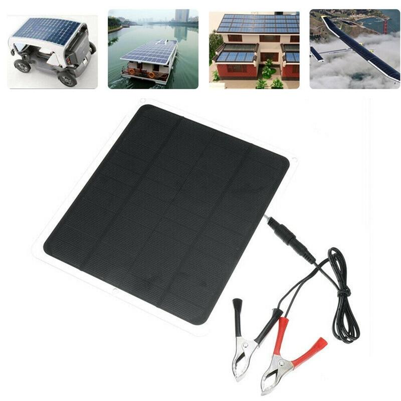 Gran oferta 20W 12V Panel Solar Usb Panel Solar con cargador de coche para Camping al aire libre