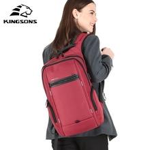 KINGSONS 2019 New 13 15 Inch Women Fashion Laptop Backpack Wear-resistant Splash-proof Business Leisure Travel Student Backpack