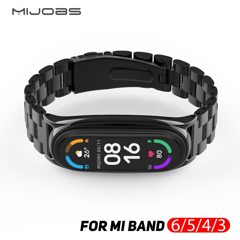 for Mi Band 6 Strap for Xiaomi Mi Band 4 Strap for Amazfit Band 5 Metal NFC Mi band 5 Miband 3 Global Bracelet Wristband