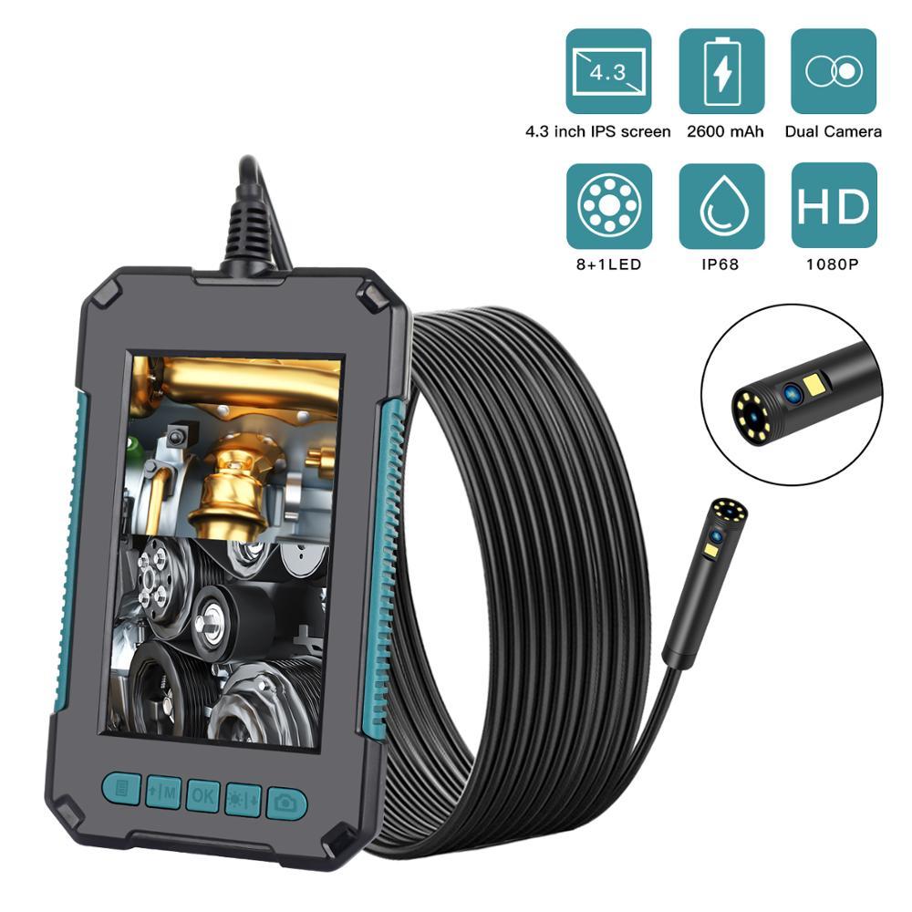 4.3 بوصة شاشة مزدوجة عدسة المنظار منظار رقمي لاسلكي التفتيش منظار الأذن CMOS Borescope 2M