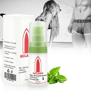 QCLANG men's penis enlargement oil massage Viagra thickening essential oil spray strong health care larger massage products