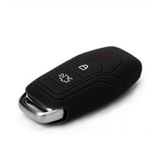 Muchkey Key Bag Cover Silicone Key Portect Case Car Accessories For 3 Buttom For Ford Mondeo