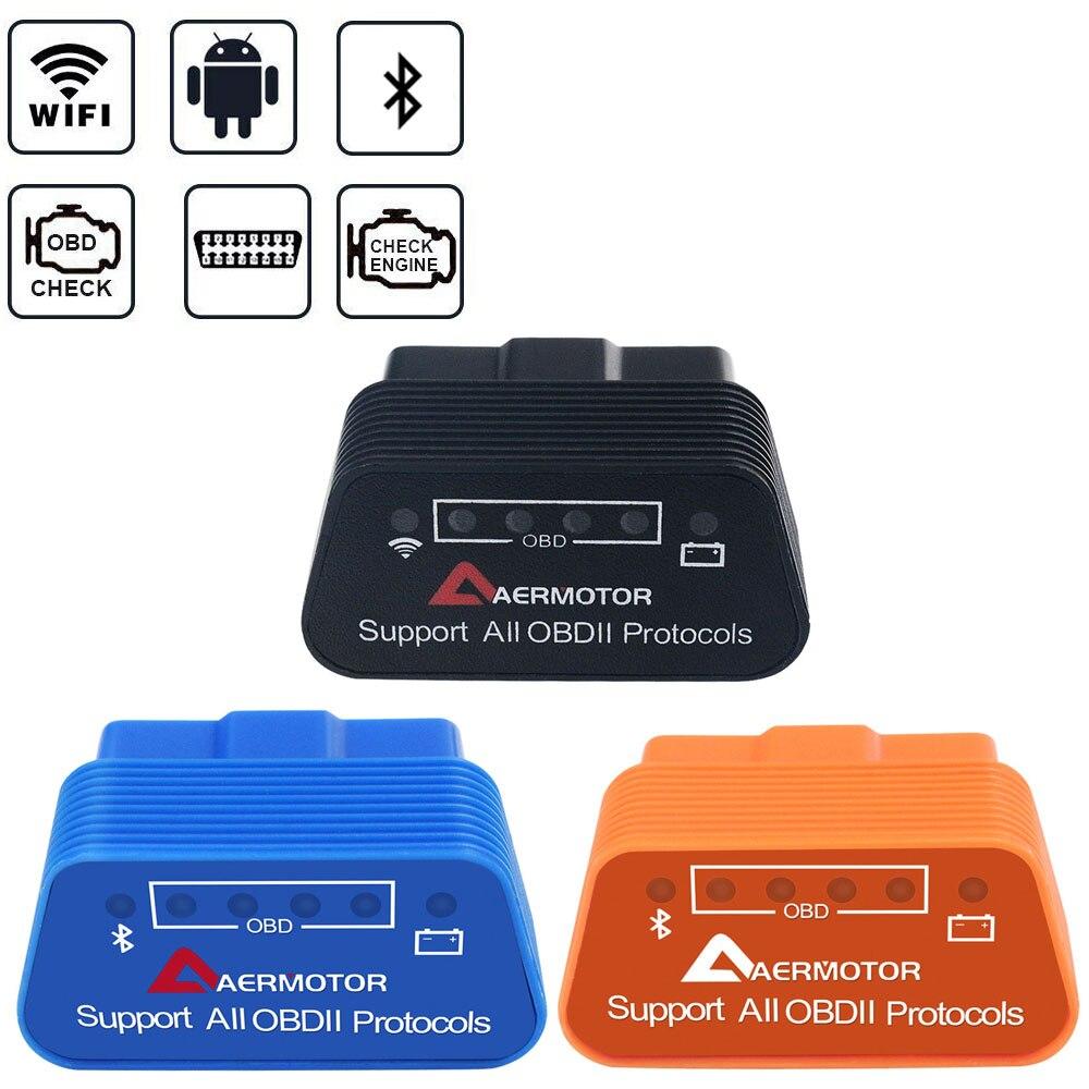 For TOYOTA ACURA ISUZU SUZUKI DAIHATSU OPEL ALFA PORSCHE SEAT RENAULT VOLVO SMART MINI Bluetooth Wifi ELM327 OBD2 Scanner Reader