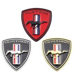 Neue 3D Metall Chrom Auto Styling Running Horse Emblem Abzeichen Für Ford Mustang Shelby GT Hinten Stamm Dekor Aufkleber Auto zubehör