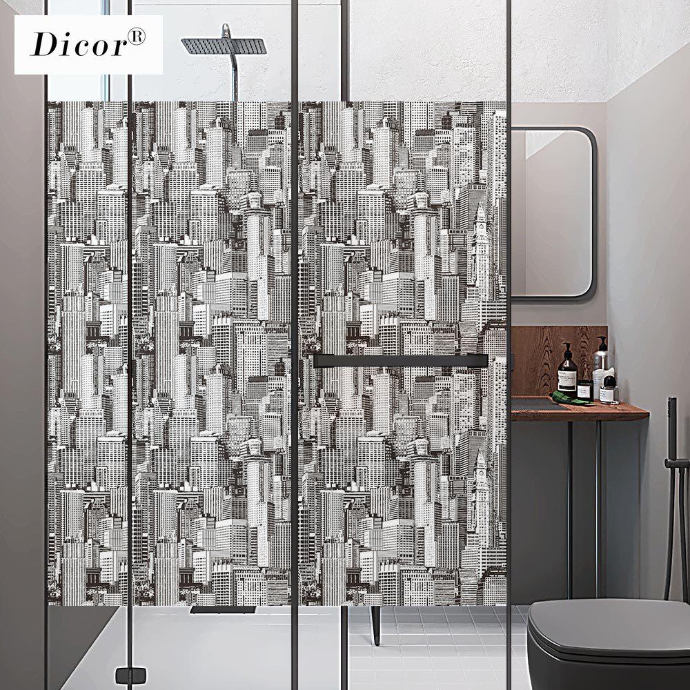 DICOR 2020 nueva arquitectura moderna arte ventana película decorativa para sala de estar Oficina 200 cm/set BLT2276