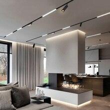 Luces de pista magnéticas N1, lámpara led de diseño, sistema de techo de riel magnético, iluminación interior, focos de riel