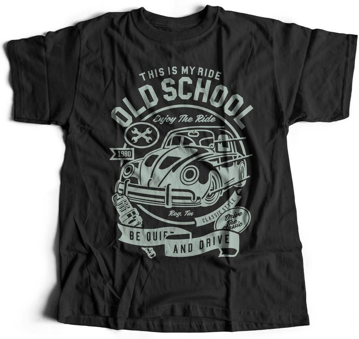 De la vieja escuela en camiseta de Caferacer clásico escarabajo Retro Vintage Hot Rod A255