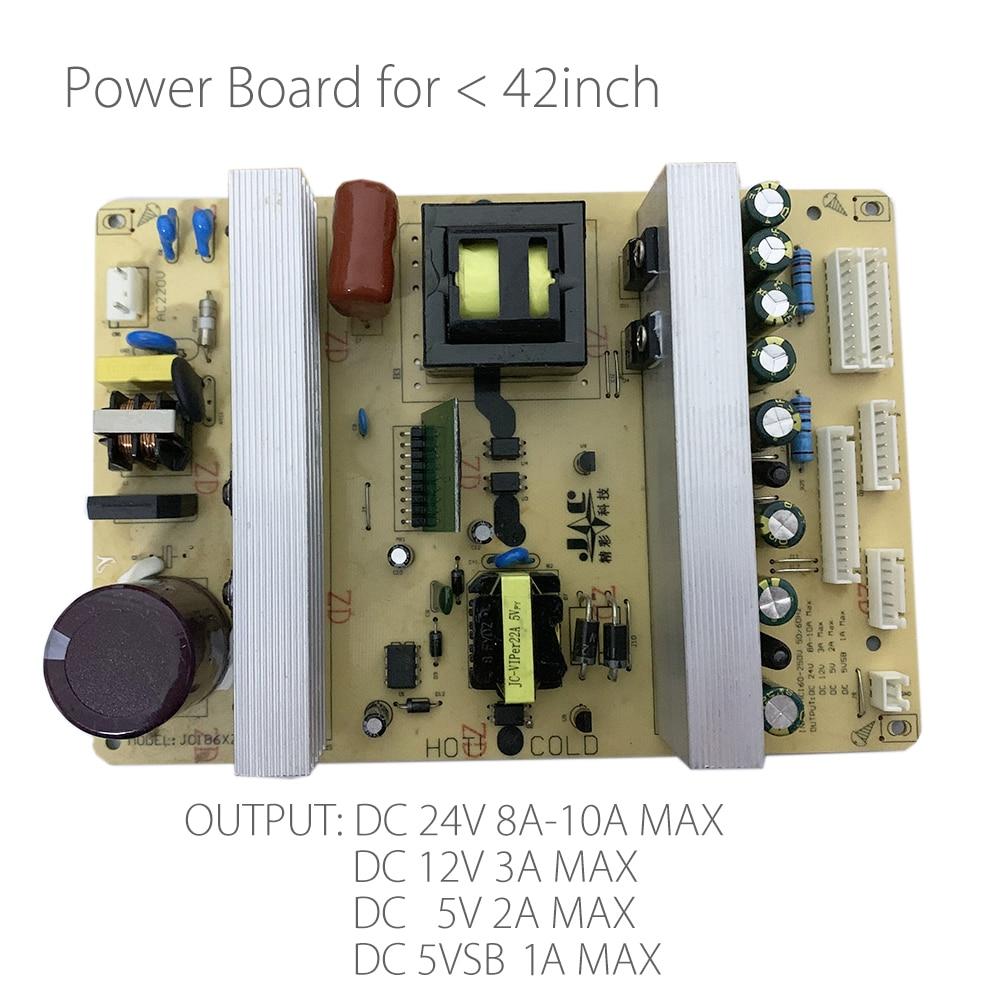 Placa de alimentación Universal para TV LCD LED, salida de 2/6/7/37/42 pines para paneles de TV de 26/32/10/13 pulgadas, DC 5V3A/12V4A/24V8A
