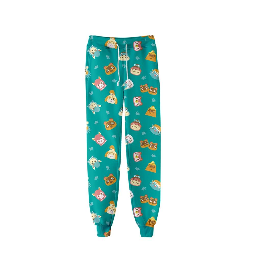 Pantalones de moda con estampado de animales cruzados, pantalones para correr, ropa de calle para hombres y mujeres, pantalones largos informales, pantalones de chándal de buena calidad