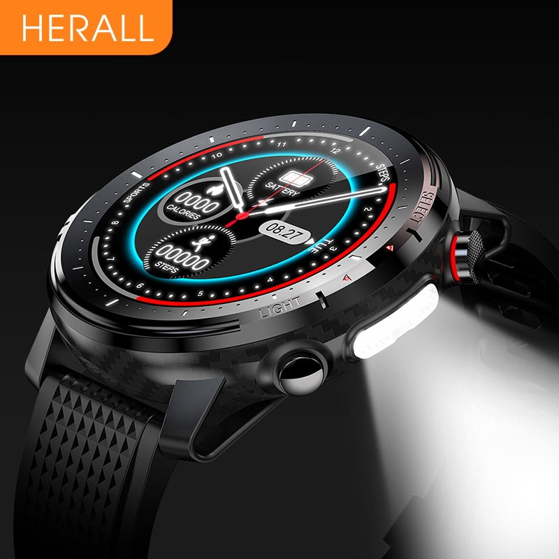 2021 New HERALL Smart Watch Men Women Smartwatch ECG Heart Rate Blood Pressure Monitor Sport Waterproof Watches For Android iOS