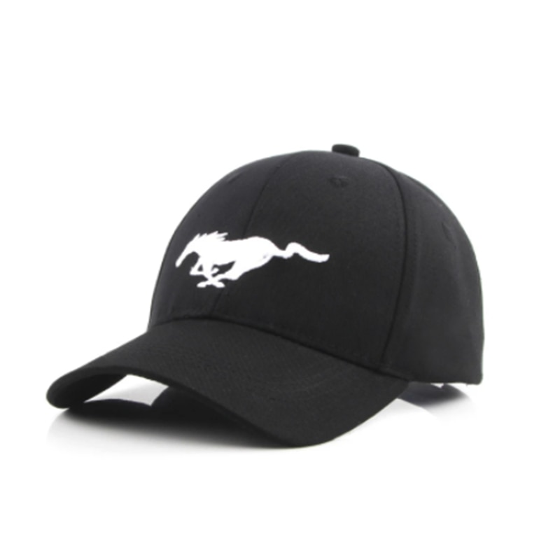 2021Black Baseball Cap Sports Racing Car Men's Sunglasses Moto MUSTANG Car Motocross Hats Cap Racing