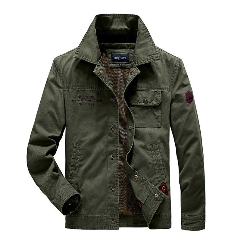 Мужская хлопковая куртка в стиле милитари, темно-синяя куртка цвета хаки, повседневная куртка в стиле милитари, 4XL, осень 2021