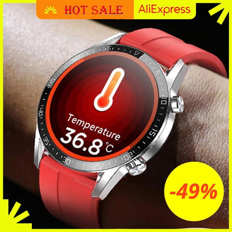 IPbzhe Smart Watch Men Thermometer ECG Smart Watch IP68 Waterproof Blood Pressure Smartwatch Reloj Inteligente For Huawei Xiaomi