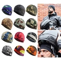 fashion sports cap quick dry helmet inner cap unisex anti sweat cooling beanie breathable hat bike riding cycling hat