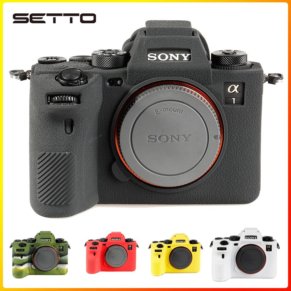 عالية الجودة لينة سيليكون المطاط كاميرا واقية الجسم حافظة جلدية لسوني A1 حقيبة كاميرا غطاء حامي